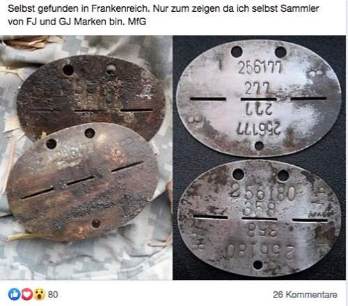 256177 Omaha Beach Erkennungsmarke Paratrooper - Fallschirmjäger Regiment 6