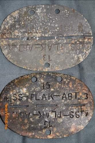 SS Erkennungsmarke from russia