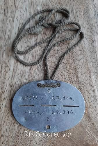 A.R. 194 erkennungsmarke