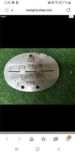 Fake Panzer anwehr abteilung 654 Tag ??