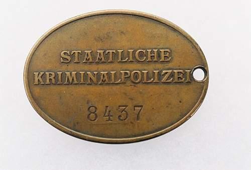 KriminalPolizei Disk real or fake?