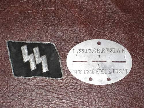 "German ""Waffen-SS"" Dog Tag Identification help?"