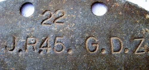 German SS Dog Tag