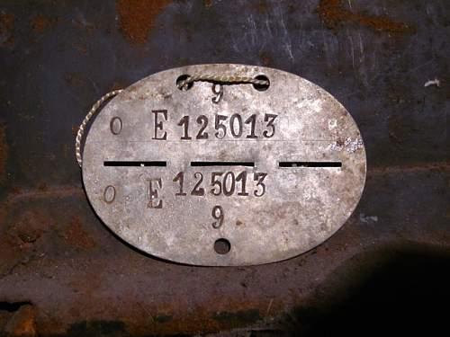 Е 125013 Interesting ID disc from Stalingrad