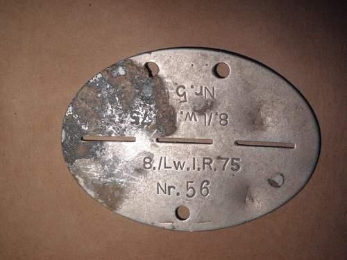 Luftwaffe Erkennungsmarke for ID