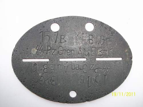 Waffen SS Dogtag for Review