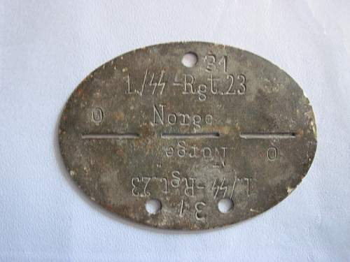ID tag SS Norge Rgt. 23