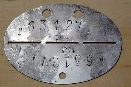 Nirostahl (Stainless Steel) Erkennungsmarken