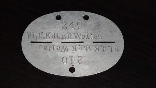 Help in identifying WWII German dog tags