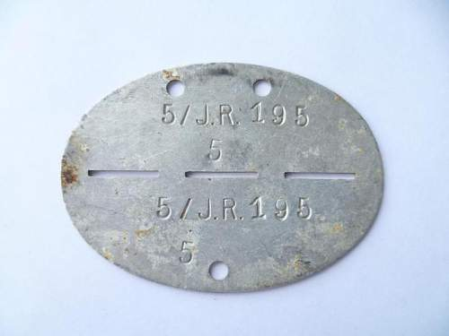 Infantry Dog Tag Real or Fake???