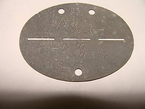 Waffen SS dog tag, opinions please