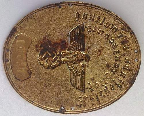 Zollgrenzhutze ID Tag and Badge