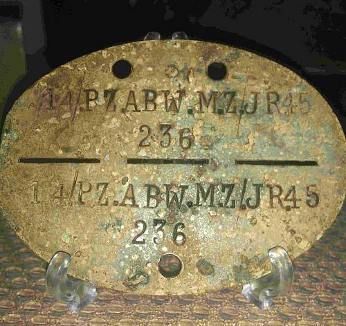 Panzer abwer ID TAG 21 ID  and 121 ID badge