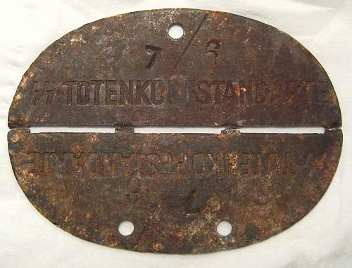 12 SS T Standarte relic tag