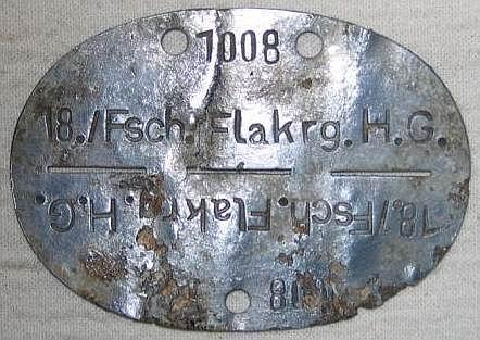 1 / FJ R. 1 Erkennungsmarke from Cassino