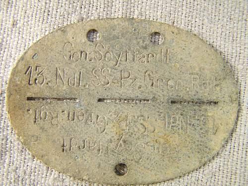 SS Nederland, Gen Seiffardt ID disc
