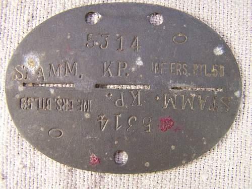Interesting typed Infanterie Ers Btl 58