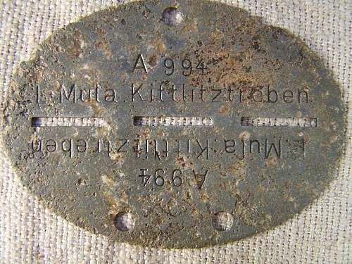 L Mula Kittliztreben Erkennungsmarke