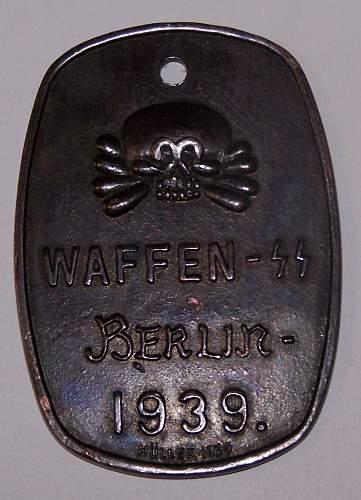 Unknown Waffen SS Disc?