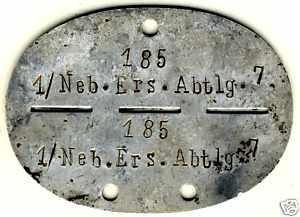 3 Erkennungsmarken Pioneer, Kradsch, Nebel