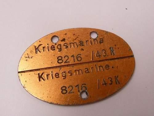 Kriegsmarine ID Tag--A Good One???
