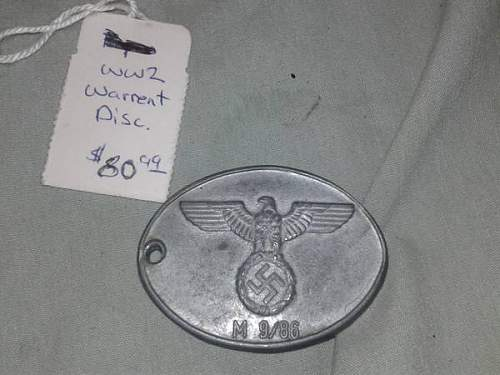 Warrant Disc Opinions