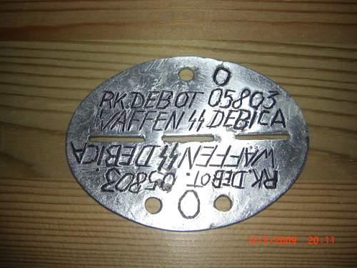 Waffen SS Debica Disc