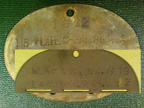 Lettische and totenkopf dog tags