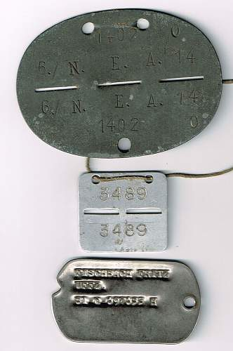 3 I/D discs for the same German soldier.