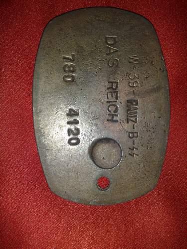 Phoney GESTAPO ID Disk on eBay