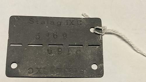 Stalag IXC POW tag
