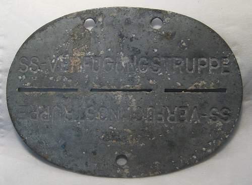 SS Erkennungsmarken Lapland Dug up