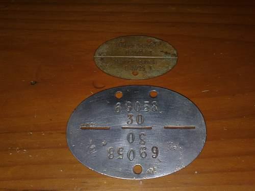 Kriegsmarine ID disc.Size differance:)
