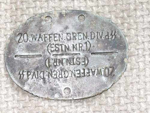 Estonian SS Dog Tag