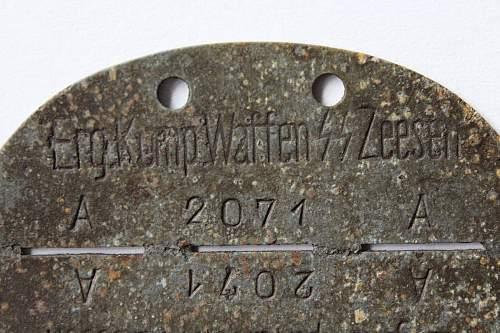 Three SS Dog Tags - Stuba, Prinz Eugen, Zeesen