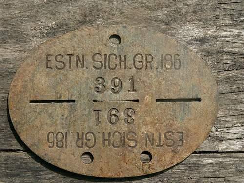 Dog tag, Estnische Sich gr 186