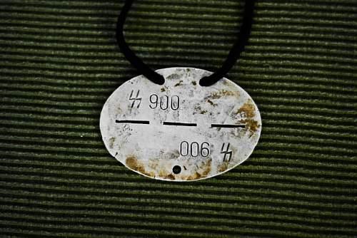 german ss ID disc