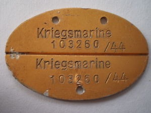 Kriegsmarine Id tag