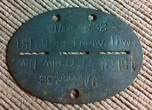 Latvian SS Dog Tag