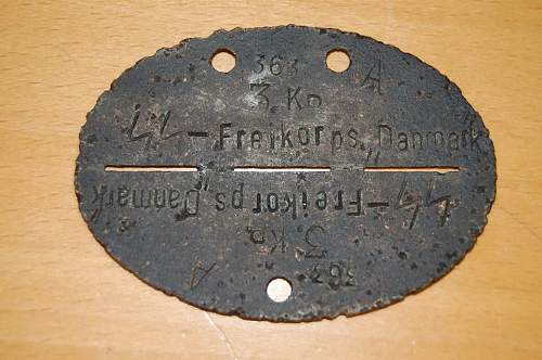 Freikorps Danmark dog tag