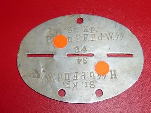 SS tag --- St. Kp. H. SS. u. P.F. II. d. W. SS