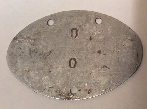 Kriegsmarine Id disc