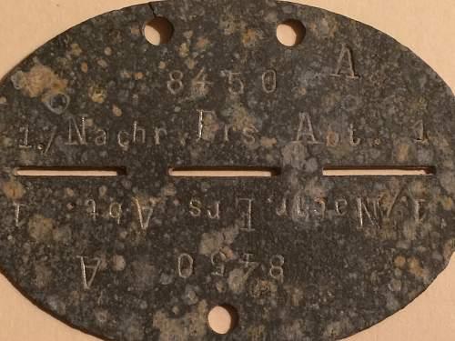 Help identifying a German ID disc.
