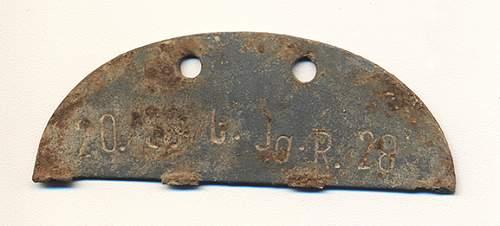 German ID tag - half