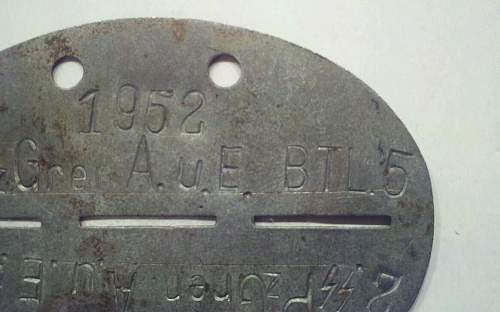 Help Identifying WWII SS Relics Dog Tag ID Disc Skull