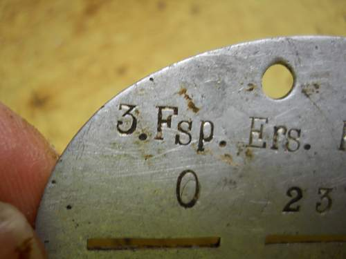 erkennungsmarken disc fake or real?