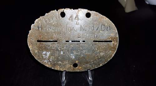 Waffen-SS Dogtag! I need help to determine this one guys :)