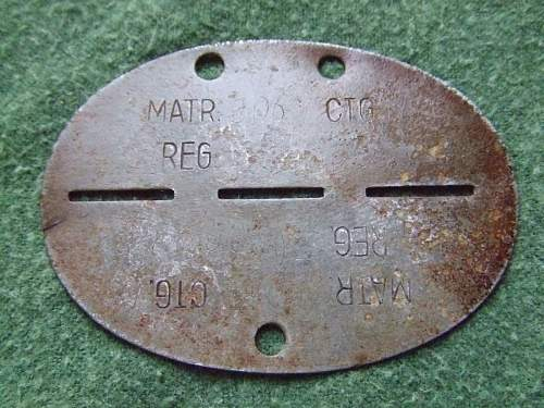 Small group of ID discs, eastern front.