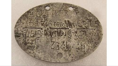 SS Panzer Div Dog Tag.....?