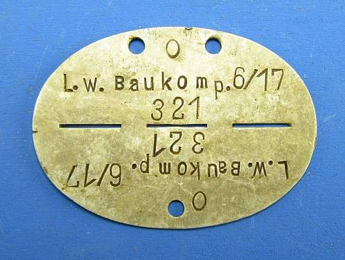 Click image for larger version.  Name:Luftwaffe ID tag.jpg Views:54 Size:147.0 KB ID:993273